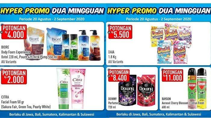 Promo Hypermart Senin 24 Agustus 2020, Diskon Harga Mi Instan, Sabun Mandi hingga Susu Bayi
