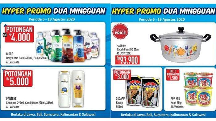 Promo HypermartSenin 10 Agustus 2020,Diskon Harga Belanja Produk Shampoo hingga Mie Instan