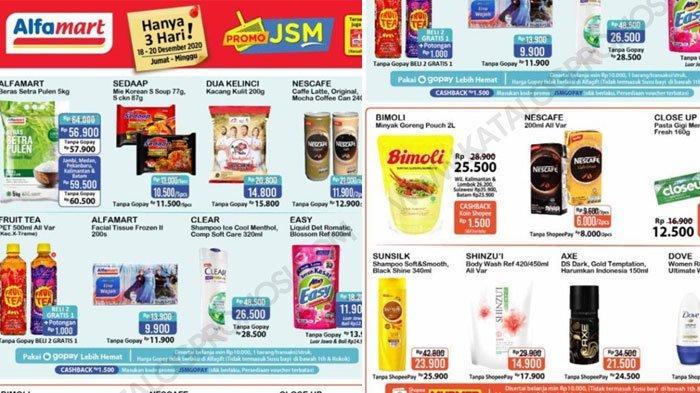 Daftar Promo JSM Alfamart 20 Desember 2020, Mulai Promo ShopeePay, GoPay Hingga Beli 1 Gratis 1