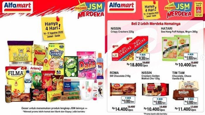 Katalog Promo JSM Alfamart 16 Agustus 2020 Ada Promo JSM Merdeka, Beli 2 Lebih Hemat, Tinggal 2 Hari