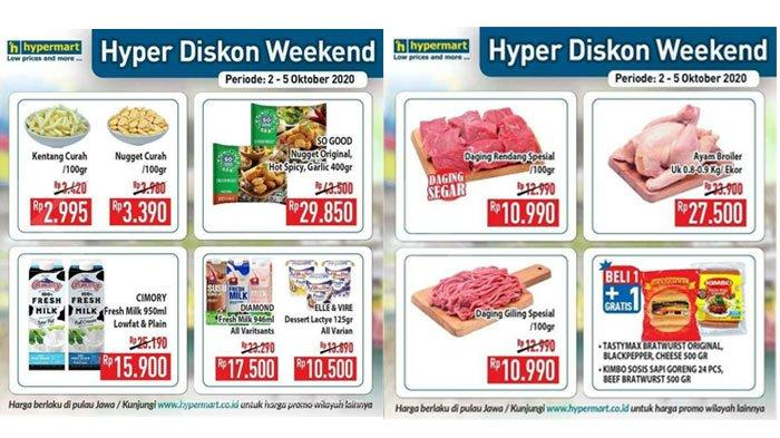 Katalog Promo Hypermart2 - 5 Oktober 2020, Hari Terakhir Nikmati Belanja dengan Diskon Harga