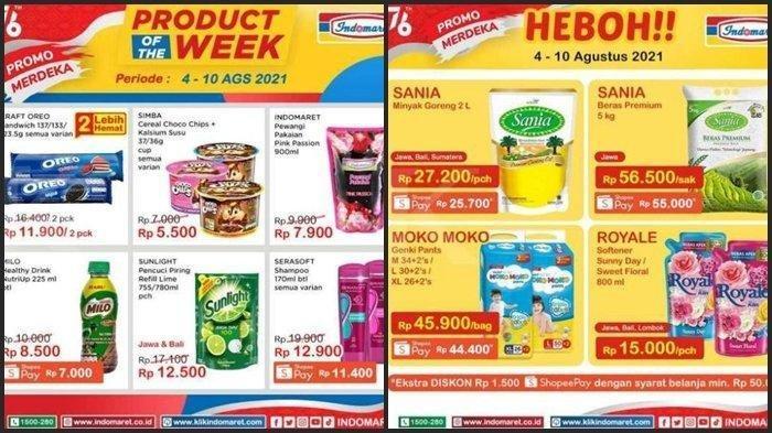 Promo JSM Indomaret 7 Agustus 2021, Minyak Goreng Bimoli 2 Liter Rp 27.500, Beras Ramos Rp 58.900