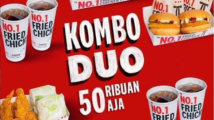 Promo KFC Hari ini 9 Oktober 2021, Nikmati Promo Kombo Duo, Bisa Pilih Ayam, Burger, atau Keduanya
