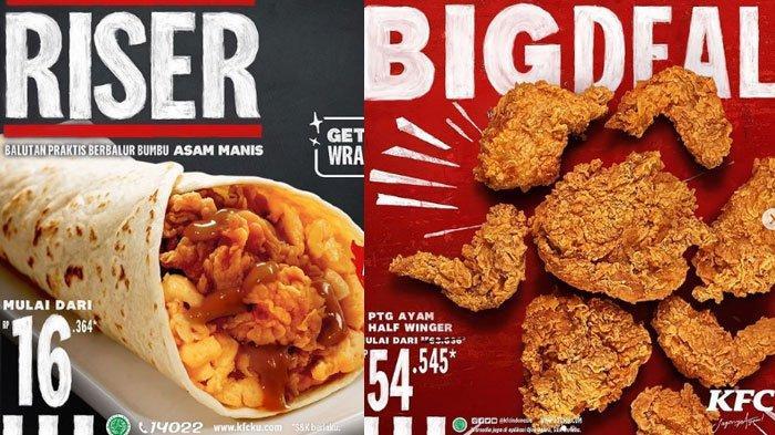 Daftar Promo KFC Februari 2021, ada Promo Big Deal Rp 54.545 Hingga Menu Baru Riser dan Menu Lainnya