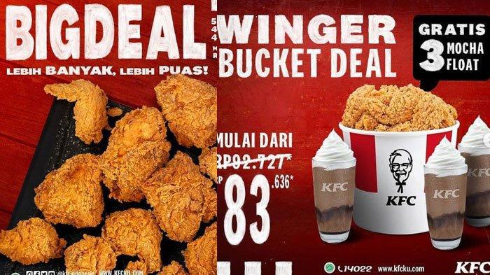 Promo KFC Terbaru di Akhir Februari 2021, Promo Winger Bucket Deal: 14 Potong Ayam dan Mocha Float