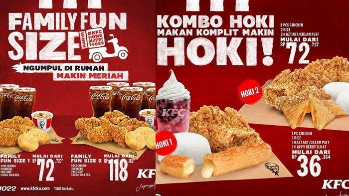 Promo KFC Terbaru Hingga Akhir Maret 2021, ada Paket Family Fun Size Hingga Kombo Hoki Makin Hemat