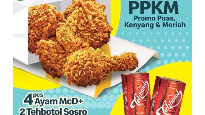 Promo McD Minggu 26 September 2021, Dapatkan Promo 4 Potong Ayam Krispy + 2 Teh Botol, Ini Harganya
