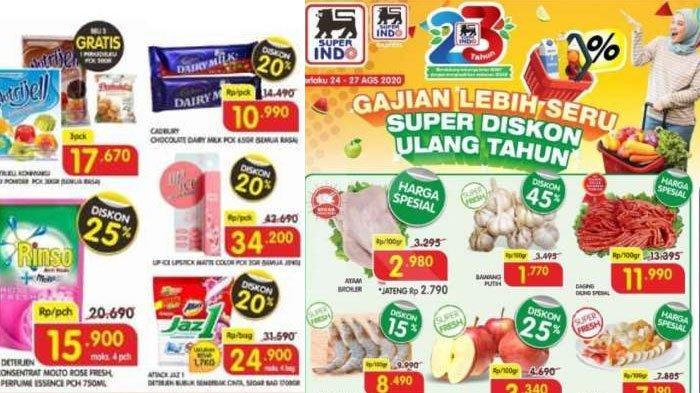 PromoSuperindo Periode 24 - 27 Agustus 2020, Belanja Murah Diskon Harga Daging Ayam sampai Deterjen