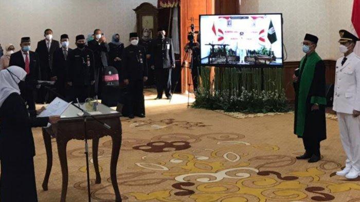 Pelantikan Bupati dan Wakil Bupati Tuban Digelar Semi Virtual, Wabup Riyadi Isolasi Mandiri Covid-19