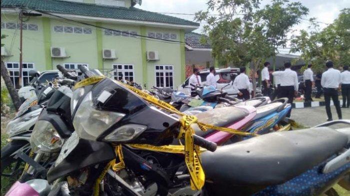 Puluhan Motor Hasil Razia Balap Liar dan Adu Merpati Disita Polres Sampang, Berasal dari Tiga Lokasi