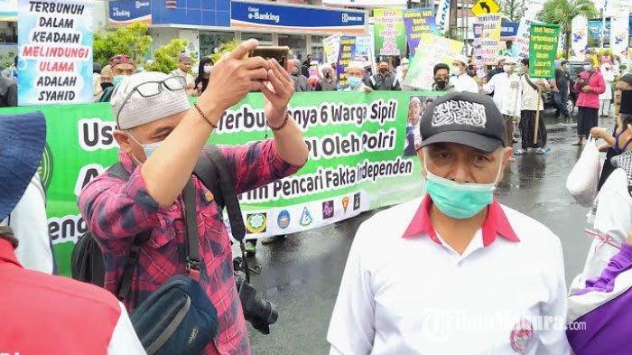 Massa Pergerakan Umat Islam Gelar Aksi Damai di Mapolres Kediri Kota, Tuntut Pembebasan Habib Rizieq