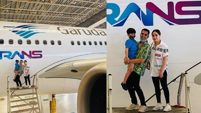 Raffi Ahmad Sekeluarga Berfoto di Pesawat Berlogo RANS, Pihak Garuda Indonesia Berikan Penjelasan