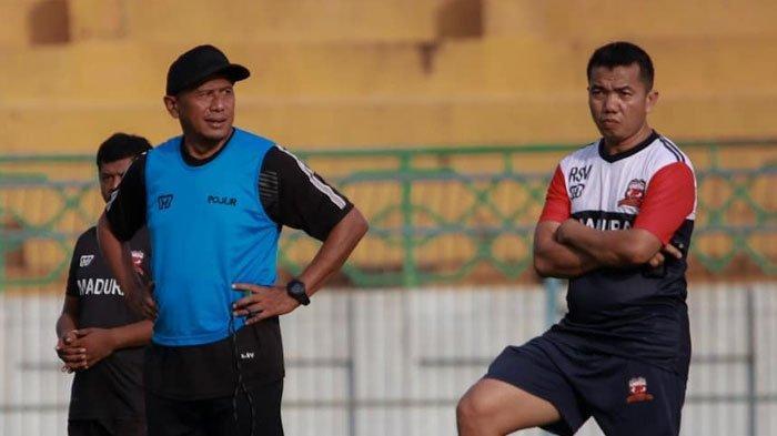 Latihan PerdanaMadura United Jelang Lanjutan Liga 1,Rahmad Darmawan Fokus Kembalikan Fisik Pemain