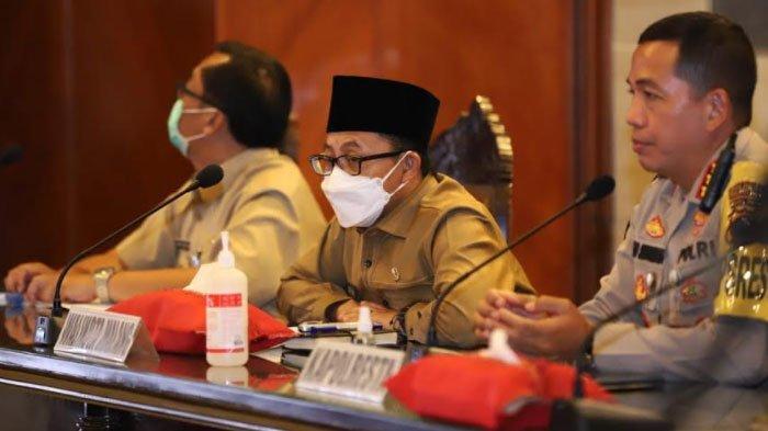 Rakor Kesiapan Operasi Ketupat Semeru 2021 Polresta Malang Kota di Ruang Sidang Balai Kota Malang, Selasa (4/5/2021).
