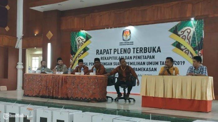 Prabowo-Sandiaga Menang Mutlak di Pamekasan,Rapat Pleno Terbuka Pemilu 2019 Diwarnai Debat Kusir