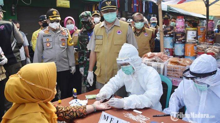 Rapid Test 6 Pengunjung Pasar Kemlagi Mojokerto Dinyatakan Reaktif, Dinkes Jadwalkan Tes Swab
