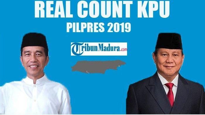 TERKINI Real Count KPU Pilpres 2019, Data Masuk 51%, Jokowi Unggul, Prabowo Menang Tipis di Bengkulu