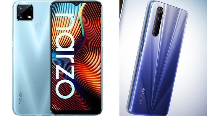 Harga HP Realme Terbaru Bulan November 2020, Mulai Realme 6 Hingga Spesifikasi Realme Narzo 20