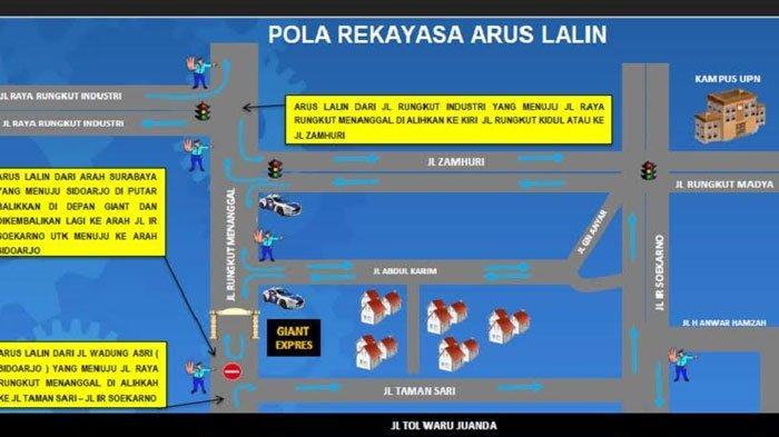 PenutupanJalan Rungkut Menanggal Dilakukan hingga Berakhisnya Masa PSBB Surabaya Mendatang