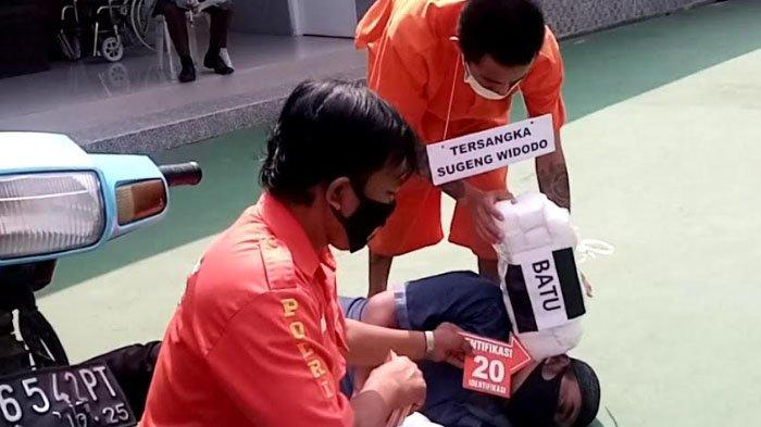 Rekonstruksi Pembunuhan Warga Majalengka Asal Malang, Adegan ke-20 Gambarkan Pukulan Fatal Mematikan