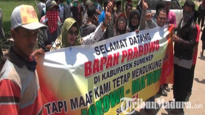 Kunjungi Pondok Pesantren Assadad Ambunten Sumenep, Prabowo Disambut Relawan Jokowi, Begini Aksinya