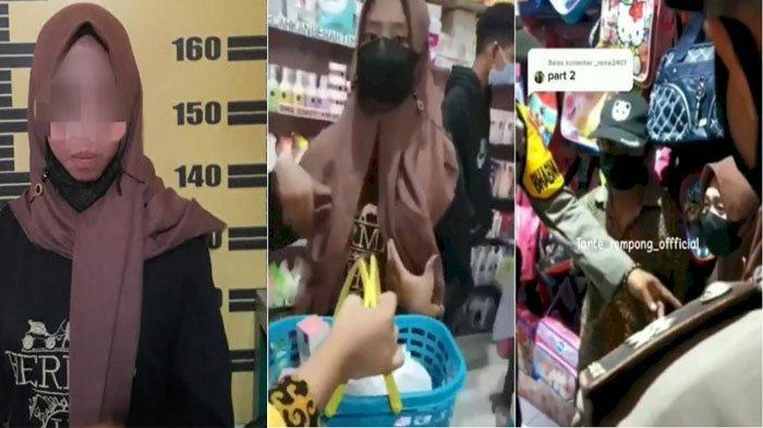 Gadis Remaja Tulungagung Ini Terciduk Curi Produk Kecantikan di Toko, Merengek saat Ditangkap Polisi