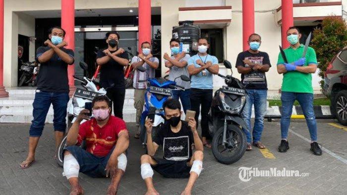 Meresahkan Warga, Komplotan Maling Motor Asal Madura Didor Polisi, Biasa Bawa Parang saat Beraksi