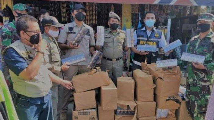 Operasi Gabungan di Pintu Masuk Suramadu, Petugas Bea Cukai Madura Sita 178.276 Batang Rokok Ilegal