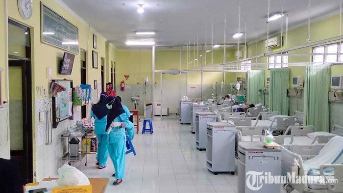 Ruang perawatan medis di RSUD dr H Slamet Martodirdjo Pamekasan, Madura, Selasa (17/3/2020).
