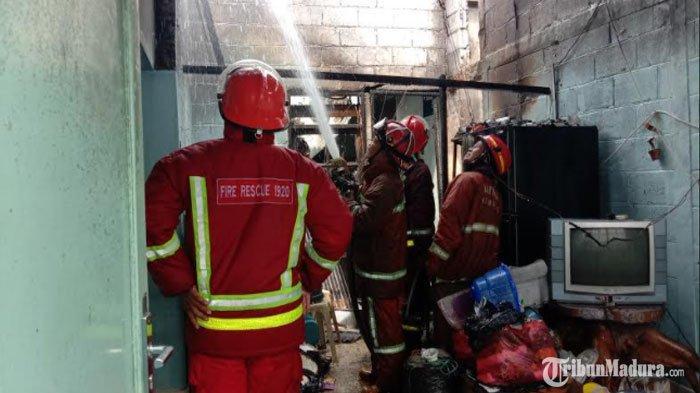 Rumah Dosen UB Malang Terbakar, Pemilik Nyaris Terjebak di Rumah, Diduga Terjadi Korsleting Listrik