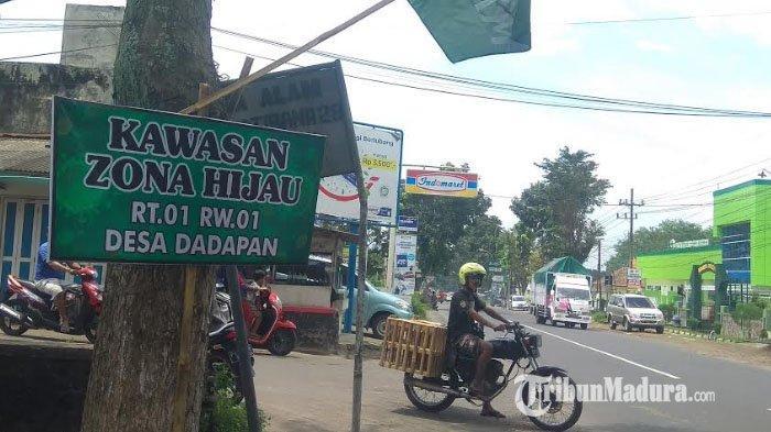 Banner Zona Hijau Bertebaran di Sejumlah Kampung, Warga Bondowoso Tetap Terapkan Protokol Kesehatan