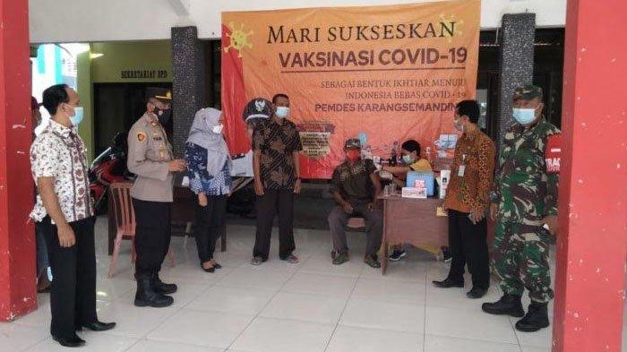 Satgas Covid-19 Kecamatan Balongpanggang Kabupaten Gresik Pantau Pelaksanaan Vaksinasi Covid-19