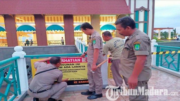 Satpol PP Kabupaten Pasuruan Tutup Proyek Kawasan Wisata Cimory di Tretes Kecamatan Prigen