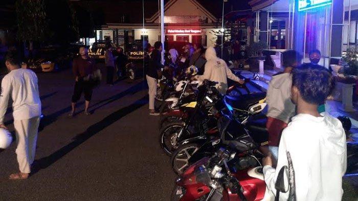 Berantas Balap Liar & Premanisme di Jalan Suromenggolo Ponorogo, Polisi Razia Motor Berknalpot Brong