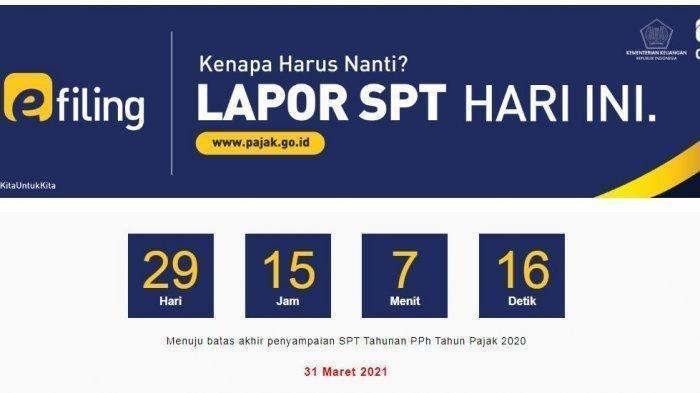 Batas Waktunya 31 Maret 2021, Simak Cara Lapor SPT Tahunan Secara Online di djponline.pajak.go.id