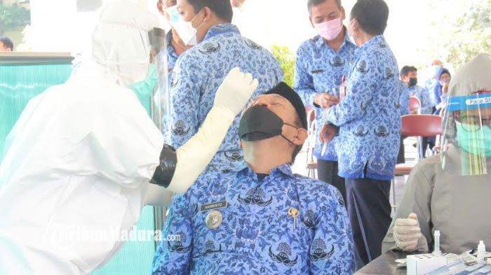 Pasca Libur Idul Fitri 2021, Ratusan ASN di Pemkab Kediri Jalani Tes Rapid Antigen