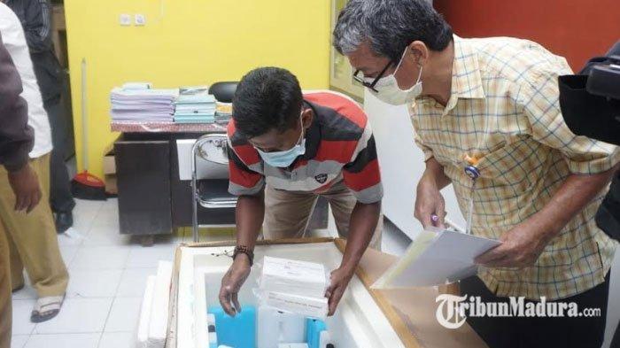 Vaksin Sinovac Tiba di Sampang, Program Vaksinasi Covid-19 Bakal Dimulai Besok, Nakes Jadi Prioritas