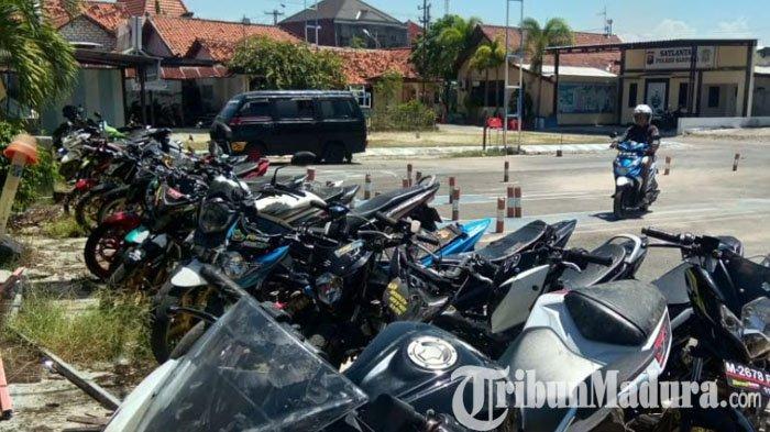 Puluhan Motor Pelaku Balap Liar di Sampang Diamankan Polisi selama Operasi Keselamatan Semeru 2021