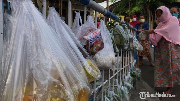 Unik, Portal Pintu Masuk Gang di Surabaya Ini Dihiasi Puluhan Sembako, Terungkap Tujuan di Baliknya