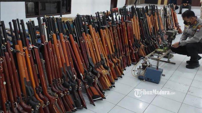 Warga Blitar Produksi Senapan Angin Ilegal, 1 Unit Dijual Rp2,3 Juta, Dipasarkan ke Aceh - Tarakan