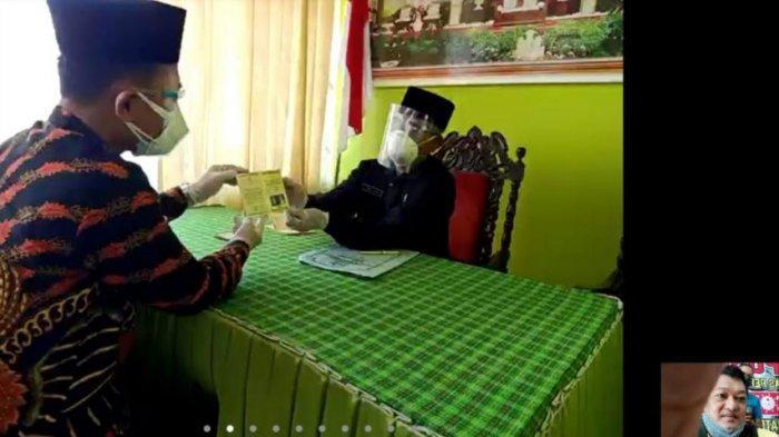 Viral Sepasang Kekasih di Tulungagung Menikah via Zoom Gara-Gara Pengantin Wanita Positif Covid-19