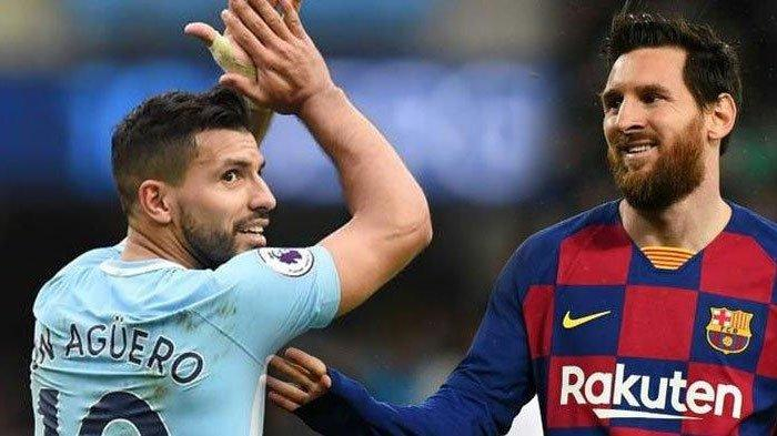 Ada Syarat Berat Jika Sergio Aguero Nekat Satu Tim dengan Lionel Messi di Barcelona, Potongan Gaji?