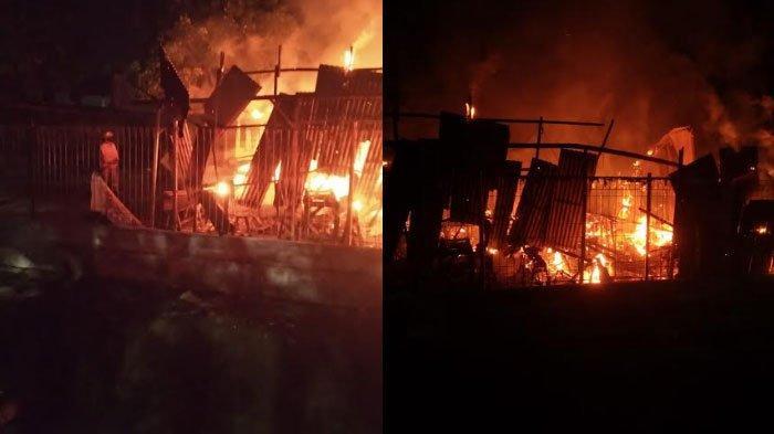 Diduga Gas Elpiji Bocor, Warung Soto di Desa Kembangan Gresik Dilahap Si Jago Merah Menjelang Sahur