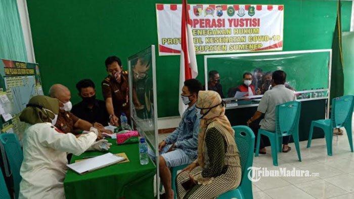 Hasil Operasi Yustisi di Sumenep Hari ini, 96 Warga Disanksi Karena Abai Protokol Kesehatan