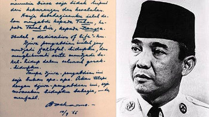 Sifat Bung Karno Terbongkar Melalui Tulisan Tangannya, Selain Visioner Soekarno Punya Sifat Berikut
