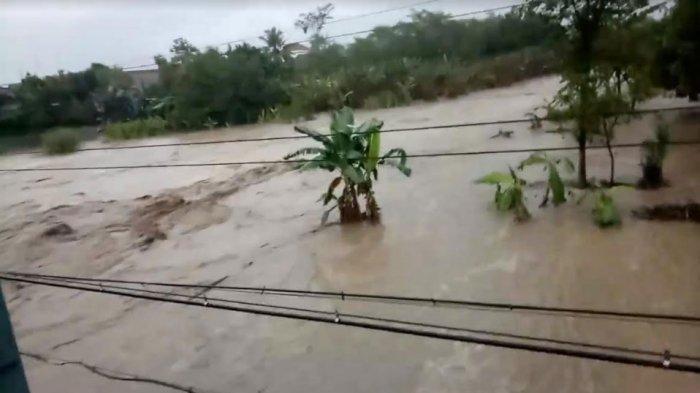 Hujan Deras Bikin Kali Konto Kediri Nyaris Meluap, Sopir Alat Berat Dikabarkan Hanyut Tenggelam
