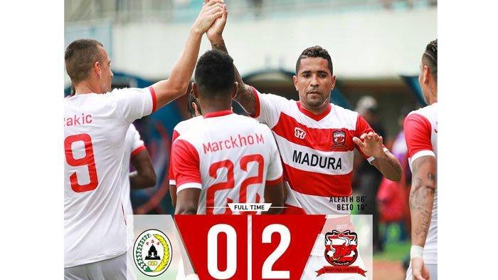 Skor AkhirPSS Sleman Vs Madura United, Laskar Sapeh Kerrab Bungkam Elang Jawa dengan Skor 2-0
