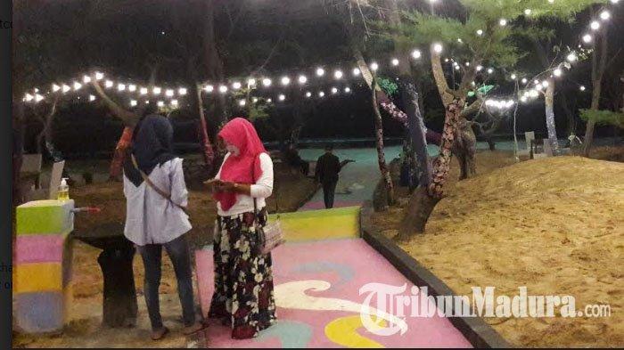 Slopeng Beach Resto, Tempat Kuliner Baru di Pantai Slopeng Berbalut Pasir Putih dan Rindang Cemara