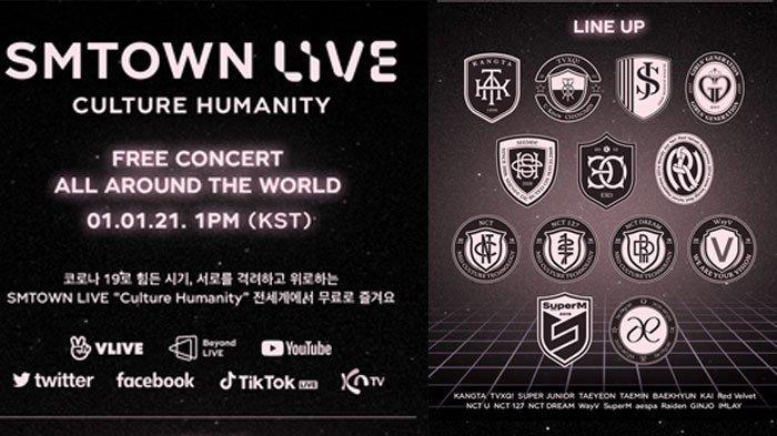 Konser SMTOWN LIVE Culture Humanity 1 Jam Lagi, Ini Daftar Lagu yang Ditampilkan dan Link Nonton
