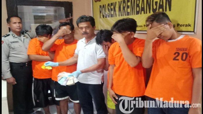 Gara-gara Uang 5 Ribu, Lima Sopir Truk Trailer yang Parkir di Margomulyo Surabaya Digelandang Polisi